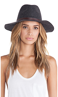 Michael Stars Oh My Darling Wide Brim Hat in Heather Smoke