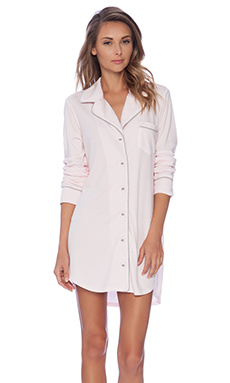 Michael Stars Long Sleeve Button Up Night Shirt in Sweet Pea