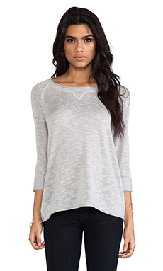 Michael Stars Long Sleeve Crew Neck Pullover in Abalone