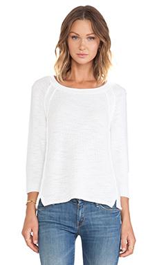 Michael Stars Long Sleeve Crew Sweater in White