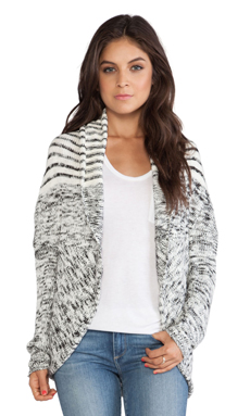 Michael Stars Cocoon Sweater in Winter White & Black