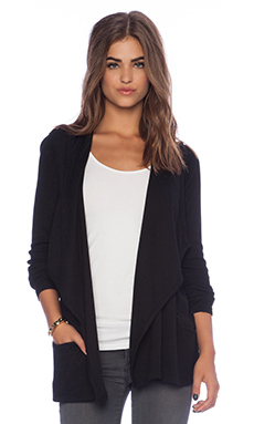 Michael Stars Thermal Cardigan in Black