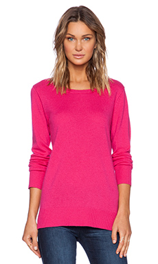 Michael Stars Long Sleeve Pullover in Raspberry