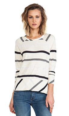 Michael Stars Long Sleeve Raglan Sweatshirt in Vanilla