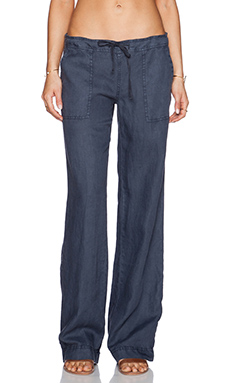 Michael Stars Wide Leg Drawstring Pant in Edgewater