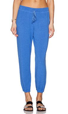 Michael Stars Drawstring Sweatpant in Blue Ribbon