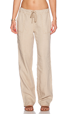 Michael Stars Wide Leg Drawstring Pant in Sand Dune