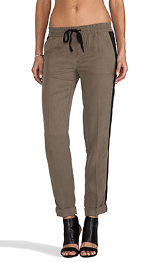 Michael Stars Tencel Rolled Skinny Chino in Military