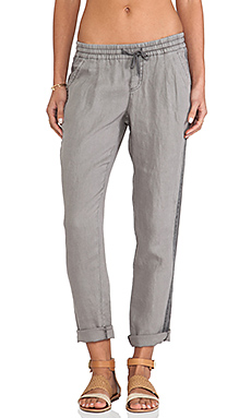 Michael Stars Pleated Cuffed Pants in Galvanized