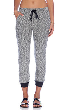 Michael Stars Drawstring Pants with Rib Cuffs in Tweed