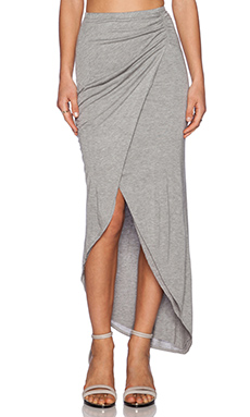 Michael Stars Asymmetrical Drape Skirt in Heather Grey