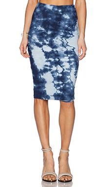 Michael Stars Reversible Skirt in Indigo Stripe