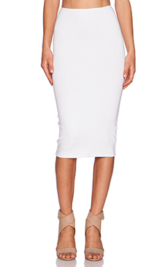 Michael Stars Convertible Pencil Skirt in White