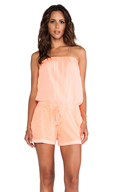 Michael Stars X REVOLVE Strapless Romper in Screaming Orange