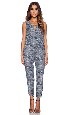 Michael Stars Sleeveless Jumpsuit in Dark Slate