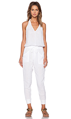 Michael Stars Twist Strap Jumpsuit in White