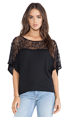 Michael Stars Off the Shoulder Dolman Top in Black
