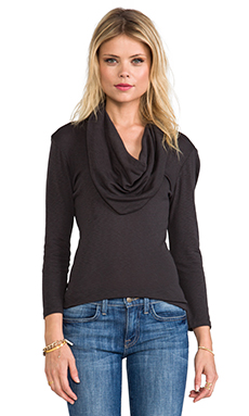 Michael Stars 3/4 Sleeve Cowl Neck in Oxide