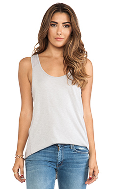 Michael Stars High Low Scoop Neck Tank in Oyster