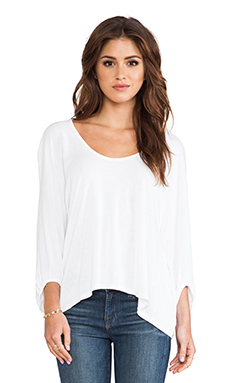 Michael Stars Swingy Crop Top in White