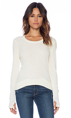 Michael Stars Thermal Scoop Neck Ivory