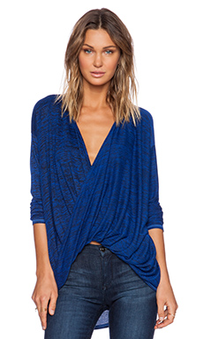 Michael Stars Long Sleeve Twisted Top in Meridian