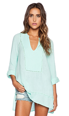 Michael Stars Rolled Sleeve Tunic in Cool Mint