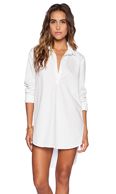 Michael Stars Long Sleeve Tunic in White
