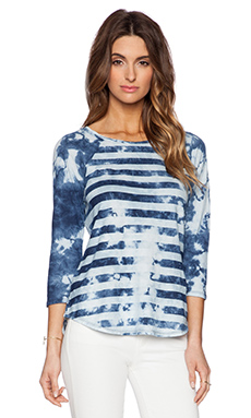 Michael Stars 3/4 Sleeve Tee in Indigo Stripe