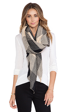 Michael Stars Buffalo Plush Scarf in Black