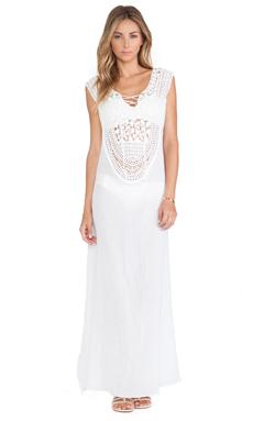 Miguelina Gisele Maxi Dress in White