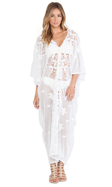 Miguelina Rachel Maxi Dress in Pure White