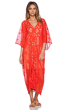 Miguelina Rachel Maxi Dress in Blood Orange