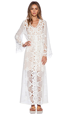 Miguelina Nora Maxi Dress in White