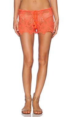 Miguelina Minnie Shorts in Papaya