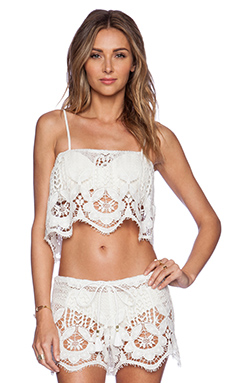 Miguelina Chandler Top in White