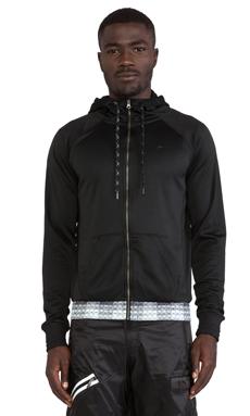 Puma by Mihara Hooded Sweatshirt Jacket in Black