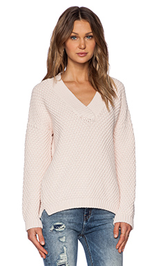 MiH Jeans The Hero Vee Sweater in Marble Pink