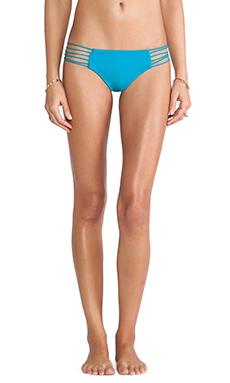 Mikoh Swimwear Kapalua Multi Skinny String Side Bottom in Caribbean