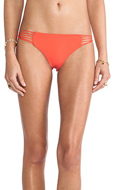 Mikoh Swimwear Lanai Multi String Loop Side Bottom in Heliconia