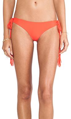 Mikoh Swimwear Dreamland Long Skinny String Tie Side Bottom in Heliconia