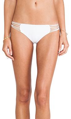Mikoh Swimwear Kapalua Multi Skinny String Side Bottom in Foam