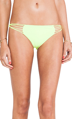 Mikoh Swimwear Lanai Multi String Loop Side Bottom in Fluro