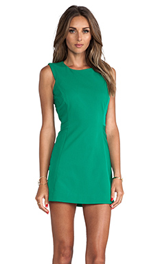 MILLY Sleeveless Shift Dress in Palm