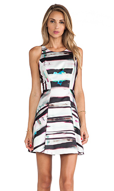 MILLY Mirage Print Flare Dress in Multi