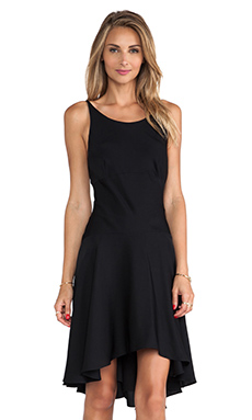 MILLY Bias Slip Dress in Black