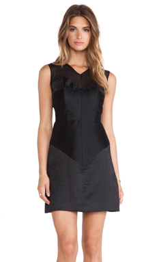MILLY Tara Mini Dress in Black