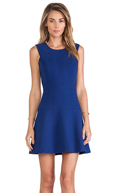 MILLY Chelsea Flare Dress in Cobalt
