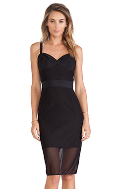 MILLY Corset Dress in Black