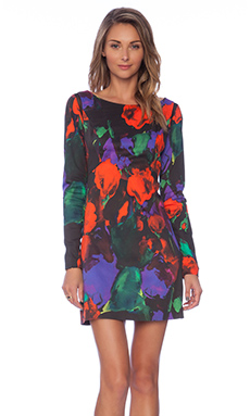MILLY Floral Print Becca Dress in Multi